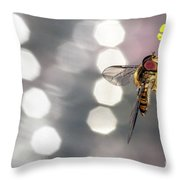 The Hoverfly Throw Pillow