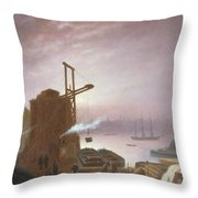 The Hudson River From Hoboken Throw Pillow by Robert Walter Weir