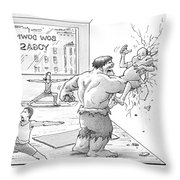 The Hulk Crushes A Man Against A Wall In A Yoga Throw Pillow
