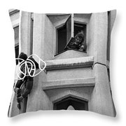 The Human Fly Throw Pillow