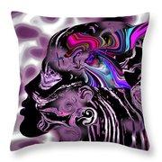 The Hummingbird Mystic. Throw Pillow