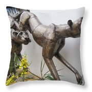 The Hunt Is On . Throw Pillow