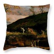 The Hunt Of Diana 1896 Throw Pillow