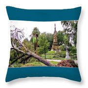 The Hurricane And The Confederate Monuments Throw Pillow