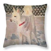 The Husky Throw Pillow by Danielle Allard