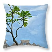 The Huts II Throw Pillow