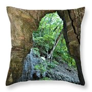 The Ice Cave Throw Pillow