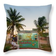 The Ice Cream Man Throw Pillow