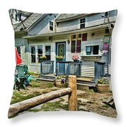 The Ice Cream Stand Throw Pillow