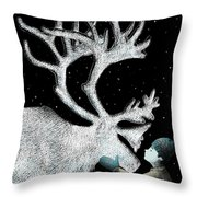 The Ice Garden Throw Pillow by Eric Fan