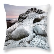 The Ice Queen Returns, North Tor Slieve Bearnagh Throw Pillow
