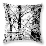 The Ice Queen's Garden Throw Pillow