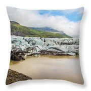 The Ice Wall Iceland Throw Pillow