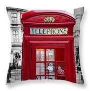 The Iconic London Phonebox Throw Pillow