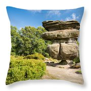 The Idol Rock In Perspective Throw Pillow