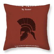 The Iliad By Homer Greatest Books Ever Series 011 Throw Pillow
