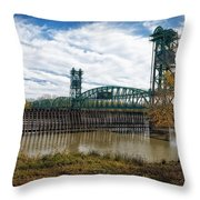 The Illinois River Throw Pillow by Cindy Lark Hartman
