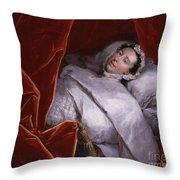 The Illness Of Actress Peg Woffington Throw Pillow
