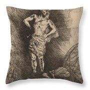 The Image Seen By Nebuchadnezzar Throw Pillow