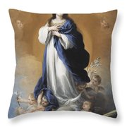 The Immaculate Conception  Throw Pillow by Bartolome Esteban Murillo