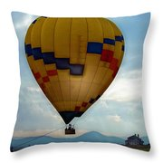 The Impressionable Balloon Throw Pillow
