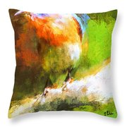 The Impressive Bluebird Throw Pillow
