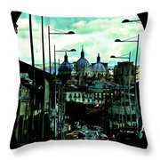 The Inca Trail Passes Through Cuenca IIi Throw Pillow