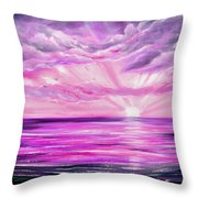 The Incredible Journey - Purple Sunset Throw Pillow