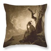 The Indian Widow Throw Pillow