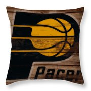The Indiana Pacers 3b Throw Pillow