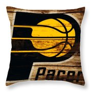 The Indiana Pacers 3c Throw Pillow