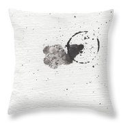 The Inexplicable Ignition Of Time Expanding Into Free Space Phase One Number 18 Throw Pillow