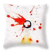 The Inexplicable Ignition Of Time Expanding Into Free Space Phase Two Number 17 Throw Pillow