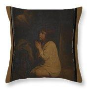 The Infant Samuel Throw Pillow