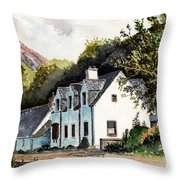 The Inn Scotland Throw Pillow
