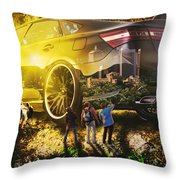 The Inner City Throw Pillow
