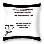 The Inspector  Throw Pillow