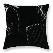 The Intensity Of Flamenco Throw Pillow