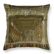 The Interior Of A Theatre Throw Pillow