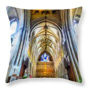 The Interior Of The Southwark Cathedral  Throw Pillow