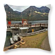 The International At Goat Haunt Throw Pillow