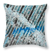 The Intersection Of St. Louis And Blue Throw Pillow