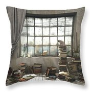 The Introvert Throw Pillow