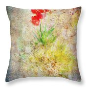 The Introverted Tulip Throw Pillow
