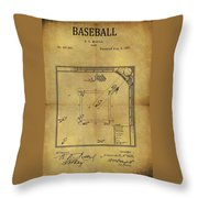 The Invention Of Baseball Throw Pillow