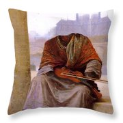 The Invisible Bohemian Throw Pillow