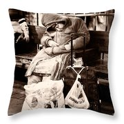 The Invisible Monotone Throw Pillow