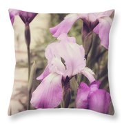 The Iris Undaunted Throw Pillow
