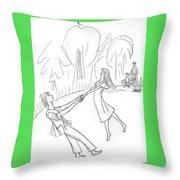 The Irish Dance. Throw Pillow