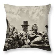 The Irish Emigration Throw Pillow